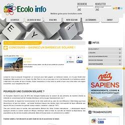 Ecolo-Info » Concours Energies renouvelables » Concours – Gagnez un barbecue solaire !