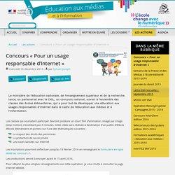 Concours « Pour un usage responsable d'Internet »
