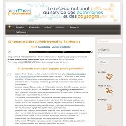Concours scolaire du Petit Journal du Patrimoine