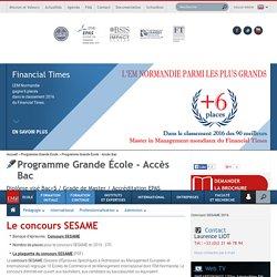 Le concours SESAME - Programme Grande École - Accès Bac ...