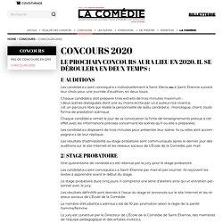 Concours 2020 – École supérieure d'art dramatique de Saint-Etienne