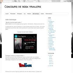 Concours de book trailers: Aide technique