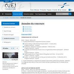 Annales du concours-CUEJ - Université de Strasbourg