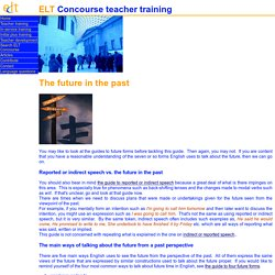 ELT Concourse guide to the future in the past