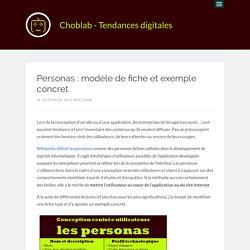 Personas : modèle de fiche et exemple concret