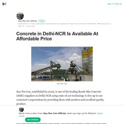 Concrete in Delhi-NCR Is Available At Affordable Price