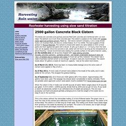 Concrete block cistern