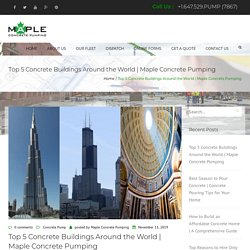 Top 5 Concrete Buildings Around the World