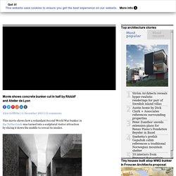 Concrete bunker cut in half by RAAAF and Atelier de Lyon