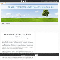 concrete cancer prevention  - concretecancerprevention.over-blog.com