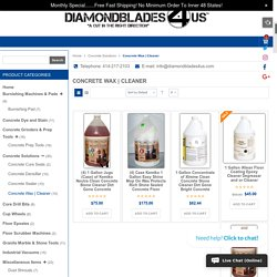 Concrete Cleaner and Wax Products Range Online