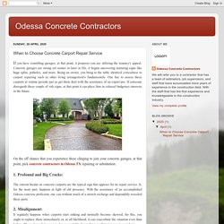 When to Choose Concrete Carport Repair Service