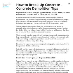 How to Break Up Concrete - Concrete Demolition Tips - BestAtHire
