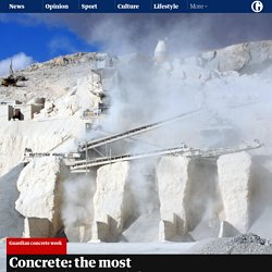 Concrete: the most destructive material on Earth