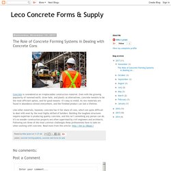 The Role of Concrete Forming Systems in Dealing with Concrete Cons
