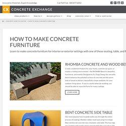 How to Make Concrete Furniture