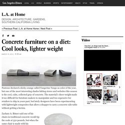 Concrete furniture on a diet: Cool looks, lighter weight