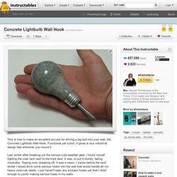 Concrete Lightbulb Wall Hook