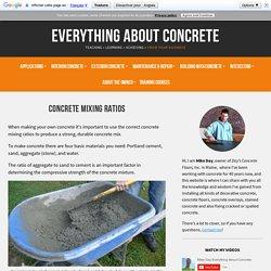 Concrete Mixing Ratios - How To Make Concrete (Cement, Sand, Stone)
