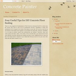 Concrete Painter: Four Useful Tips for DIY Concrete Floor Sealing