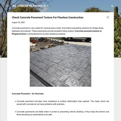 Check Concrete Pavement Texture For Flawless Construction