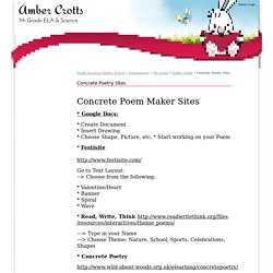 Concrete Poetry Sites - North Davidson Middle School