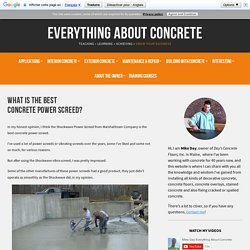 Why This Is The Best Concrete Power Screed For Floors And Slabs