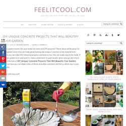 DIY Unique Concrete Projects That Will Beautify Your Garden - feelitcool.com