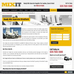 Ready Mix Concrete Supplier in Stratford - MixIt