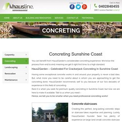 Concreting Sunshine Coast
