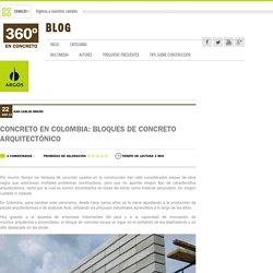 Concreto en Colombia: Bloques de concreto arquitectónico