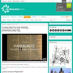 CONCRETO DE PAPEL [PAPERCRETE]