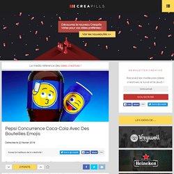 Pepsi concurrence Coca-Cola avec des bouteilles emojis