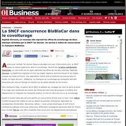 La SNCF concurrence BlaBlaCar dans le covoiturage via