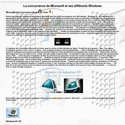La concurrence de Microsoft et ses différents Windows