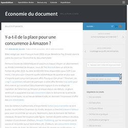 Y-a-t-il de la place pour une concurrence à Amazon ? – Économie du document