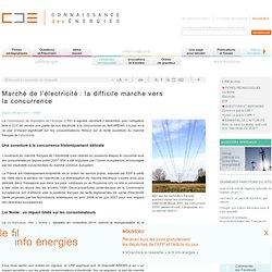 Concurrence sur le marché de l'électricité : difficultés et loi Nome