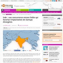 Inde: une concurrence encore faible qui favorise l'implantation de startups étrangères