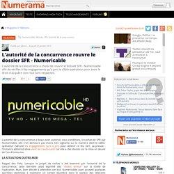 L'autorité de la concurrence rouvre le dossier SFR - Numericable