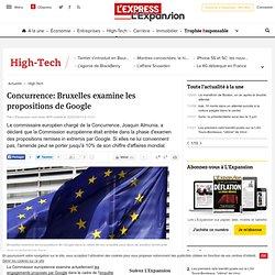 Concurrence: Bruxelles examine les propositions de Google