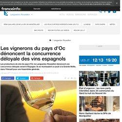 Les vignerons du pays d'Oc dénoncent la concurrence déloyale des vins espagnols - France 3 Languedoc-Roussillon