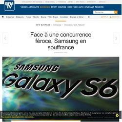 Face à une concurrence féroce, Samsung en souffrance