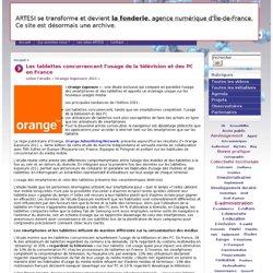 Les tablettes concurrencent l'usage de la télévision et des PC en France
