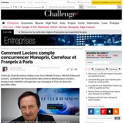 Comment Leclerc compte concurrencer Monoprix, Carrefour et Franprix à Paris