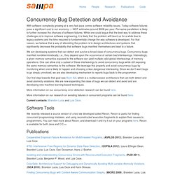 Concurrency Bug Detection and Avoidance - Sampa