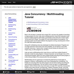 Java Concurrency / Multithreading Tutorial