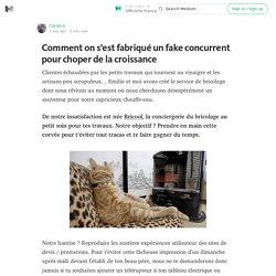 Comment on s'est fabriqué un fake concurrent pour choper de la croissance — Officielle France