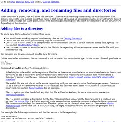 Concurrent Versions System - Adding, removing, and renaming files and directories