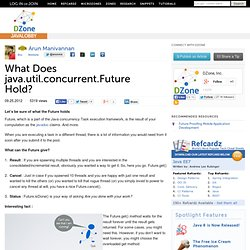 What Does java.util.concurrent.Future Hold?