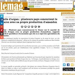 Huile d'argan : plusieurs pays concurrent le Maroc avec sa propre production d'amandon